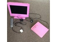 Pink tv and dvd player