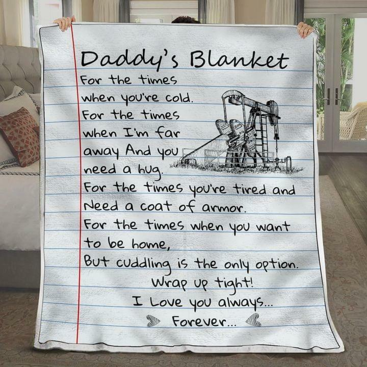 Drawing Oilfield Special Gift from Children to Daddy on Father Day Soft Blanket