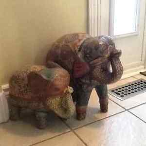 Two decorative elephant