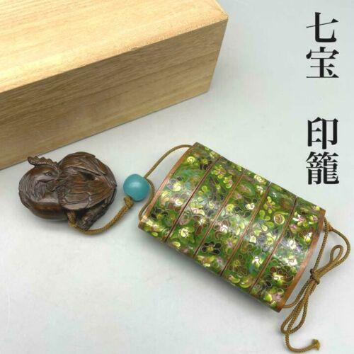 Shippo Yaki Inro Bird Netsuke Enamel Cloisonne Japanese Antique F/S Japan