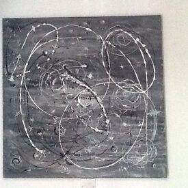 Abstract painting Solar system An Original hand painted canvas