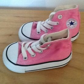 Unused Pink converse (infant size 3)