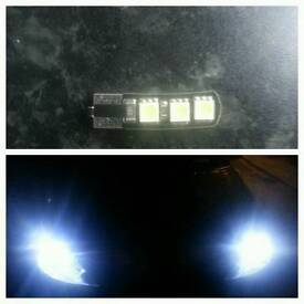 10x T10 canbus led sidelight bulbs