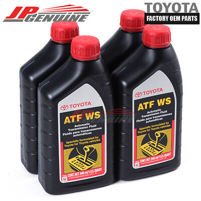 GENUINE OEM TOYOTA SCION LEXUS NEW ATF TRANSMISSION FLUID 00289-ATFWS X4