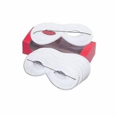 Maskerade Masken Weiß (Weiß Domino Maskerade Superhelden Maske Karneval Damen Kostüm)
