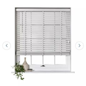 Grey wood elliot blinds , new in box