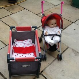 Graco Toy Cot & Buggy