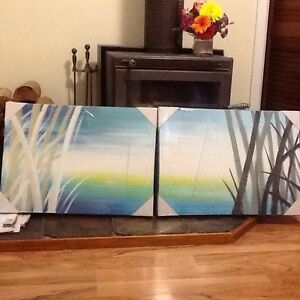 2 X BEAUTIFUL CANVAS ARTWORK Ryde Ryde Area Preview