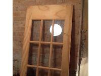 Wooden and glass panelled internal door