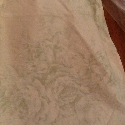 Rachel Ashwell Shabby Chic Serenity Ivory Fabric Sample Sage Green Toile 1 Yd  for sale  Mobile