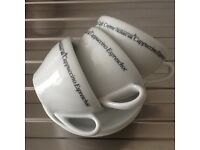 3 Cappuccino Cups & Saucers £5
