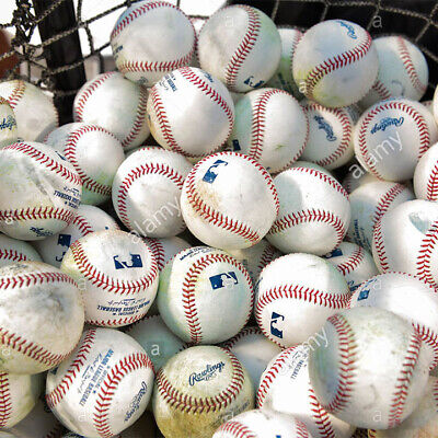 (334) 30 used MLB Batting Practice Balls Flat Seem