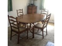 Ercol Golden Dawn Dining Table & 4 Matching Chairs