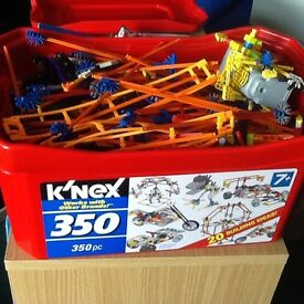 Box filled with knex
