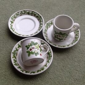 Portmeirion coffee cups and saucers.