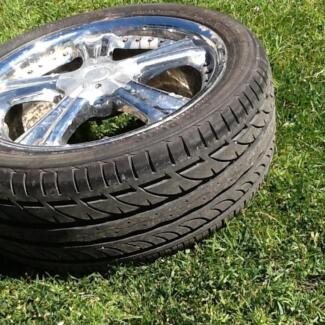 Set of 4 rims and tyres