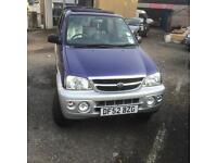 Daihatsu Terios 1.3 EL only 74,000 miles one year warranty and MOT