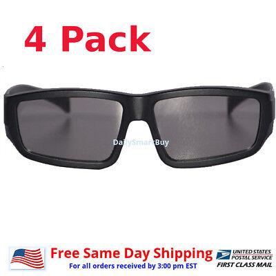 4 Pair Passive 3D Glass with Polarized Plastic Lenses for Vizio LG 3D glasses