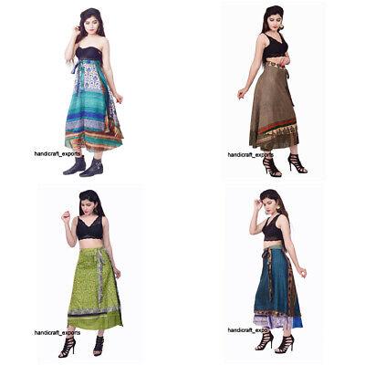 Vintage Wrap Skirt Indian Silk Saree Bohemian Magic Women Dress Wholesale Lot ](Skirt Wholesale)