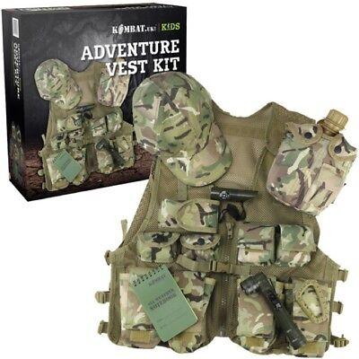 Verpacktes Geschenk Jungen Armee Adventure Weste Kappe Torch - Verpacktes Geschenk Kostüm