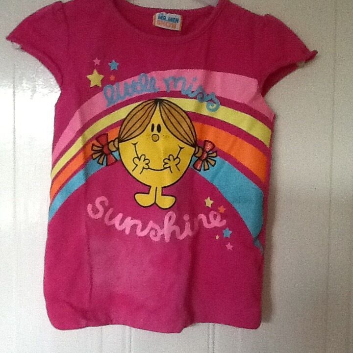 "Pre loved Girls ""little miss sunshine"" t-shirt aged 5-6 years"