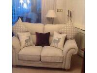 2 X cream sofas