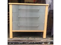 Lovely chrome finish drawers