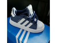 Infant adidas super star trainers