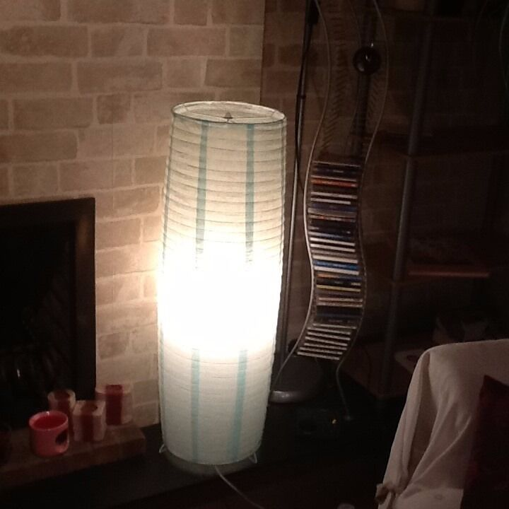 FLOOR LAMP IN DUCK EGG BLUE/SOFT GREEN