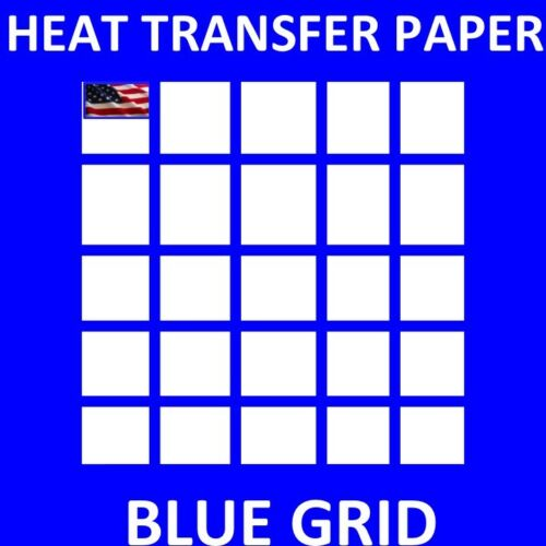 "DARK FABRICS-Blue Grid - 50Sh 8.5""x11"" Heat Transfer Paper for INK JET PRINTING"