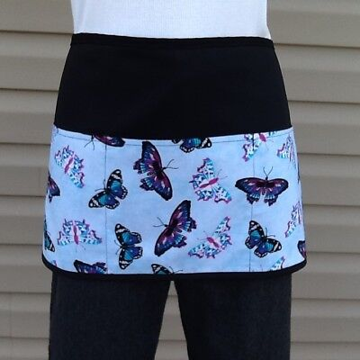 Black Butterflies Waitress Waist 3 Pocket Apron Restaurant Classyaprons