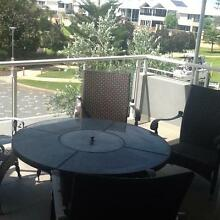 Cast Iron & Granite Table & Chairs with Fire Pit Hillarys Joondalup Area Preview