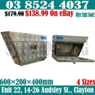 2.5mm Aluminium Under Tray Toolboxes 600x200x400 1 Pair 2 Boxes