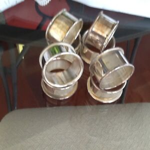 ROUND SOLID SILVER PLATED NAPKIN HOLDER RINGS