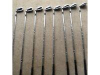 Mizuno MX19 left handed golf clubs.