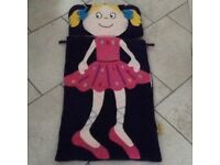 Snuggle sac child's ballerina sleeping bag.