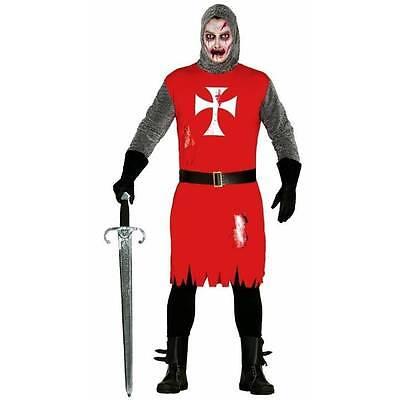 Pour Hommes Zombie Croisé Chevalier Médiéval Déguisement (Kostüm Halloween Pour Homme)