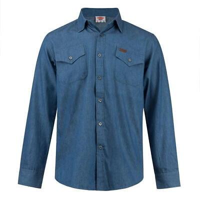 Navy Langarm Denim-shirt (✅ LEE COOPER Herren Hemd langarm Jeans Denim Gr.S-XXL Freizeit Long Shirt Navy)