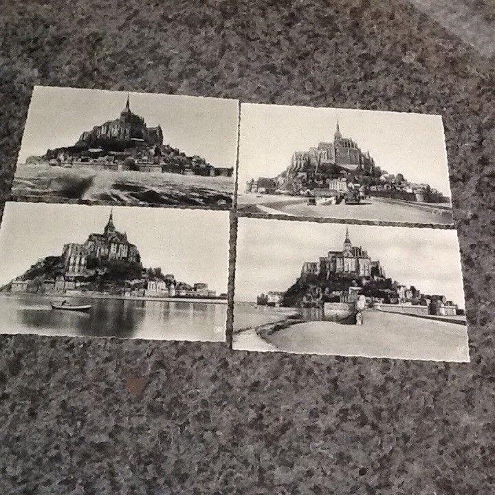 4 Mont St Michel, Brittany postcards