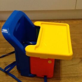 Safety First fold up booster seat with removable tray