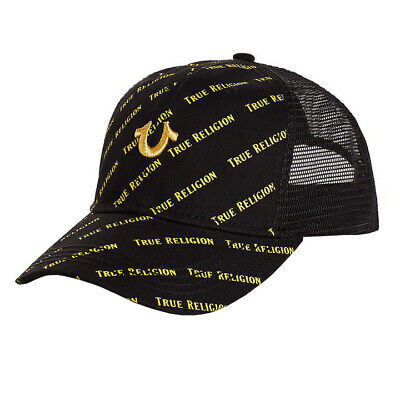 31d5f04d4051d8 True Religion Men's Logo Cap Trucker Adjustable Baseball Hat Snapback TR2565