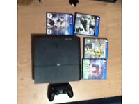 Sony PS4 Excellent condition 1tb memory with four games