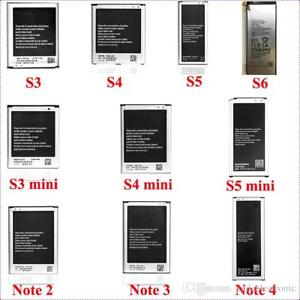 Batteries for Samsung Galaxy S3/S4/S5/S3mini/S4mini/Note 2/3/4/5