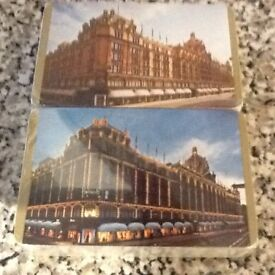 Double pack of Harrods playing cards.