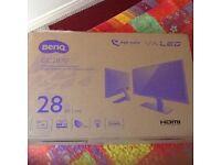 "Benq GC2870h 28"" VA panel led monitor boxed as new"