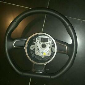 Audi ae s3 rs3 flat bottom steering wheel
