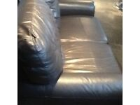 Brown Leather Two X Two Sofa's VGC Bargain.