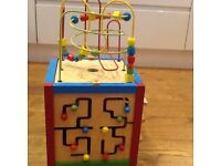 Wooden East Coast multi activity cube