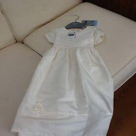 Beautiful Christening Gown, matching shoes & cardigan