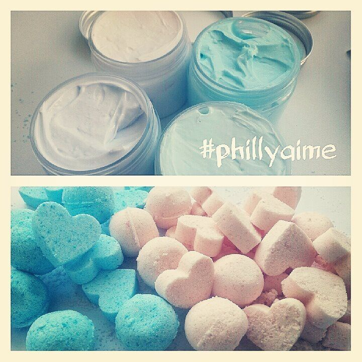Whipped body butters and bath fizzies